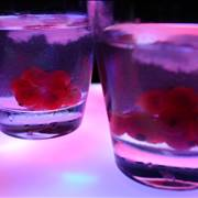 Vodka in pink glass